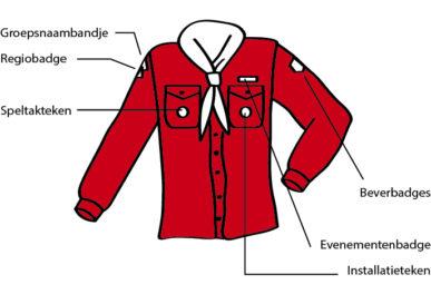 Scoutfit van de bevers bij scouting