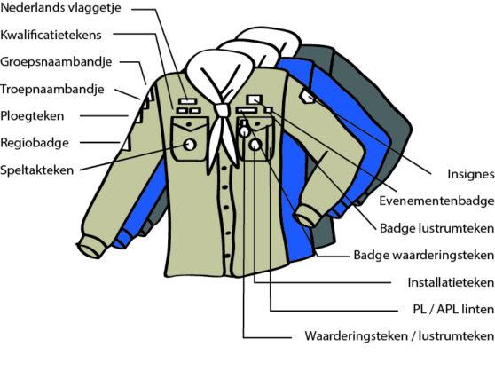 Scoutfit van de scouts